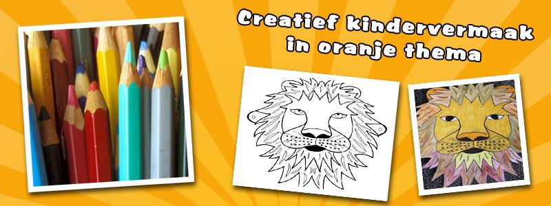 Craftstable: Orange lion mask