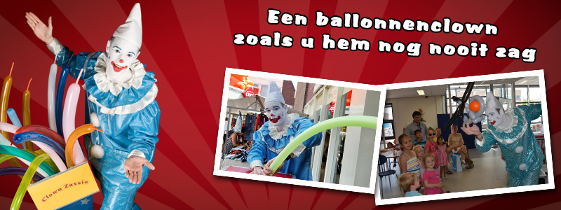 Clown Zassie as a balloon artist
