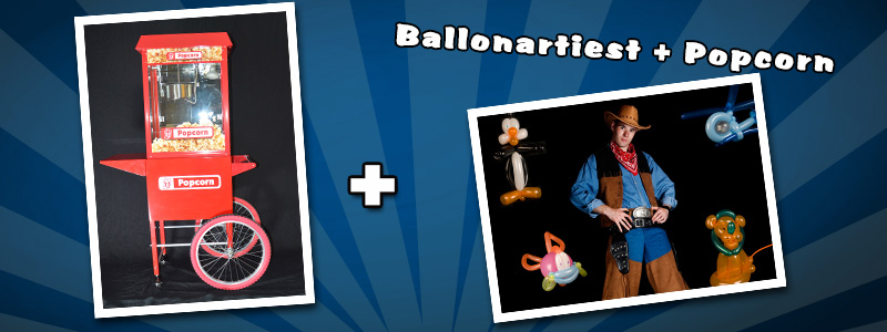 Balloon artists & Popcorn machine