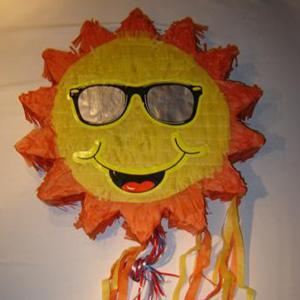 Laughing sun pinata