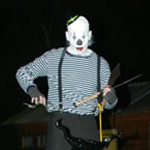 Steltloper voor Halloween (griezel)